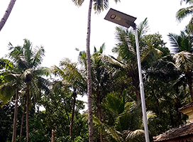 Solar street lights commissioned in Benauli