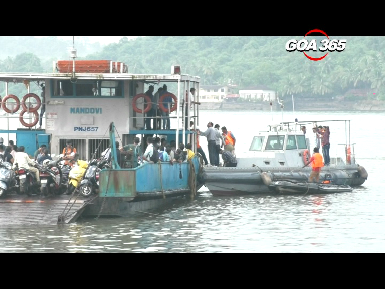 Strong winds, heavy rain ground 2 ferries in Mandovi; passengers rescued