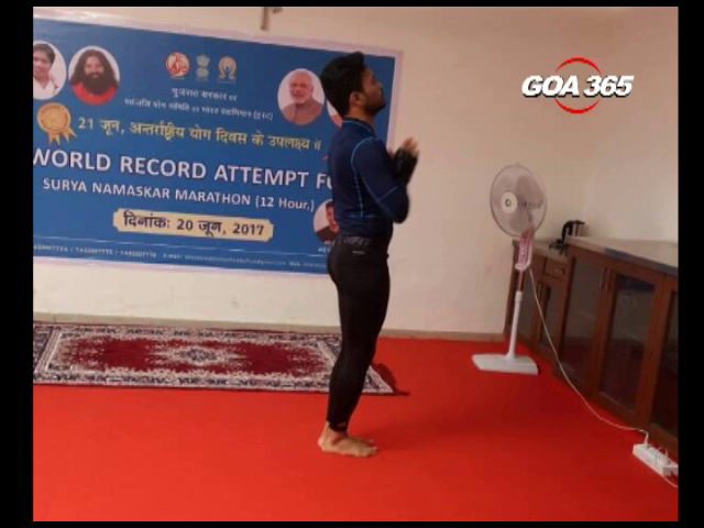 Young Goan Pankaj Sainekar breaks his own Suryanamaskar record